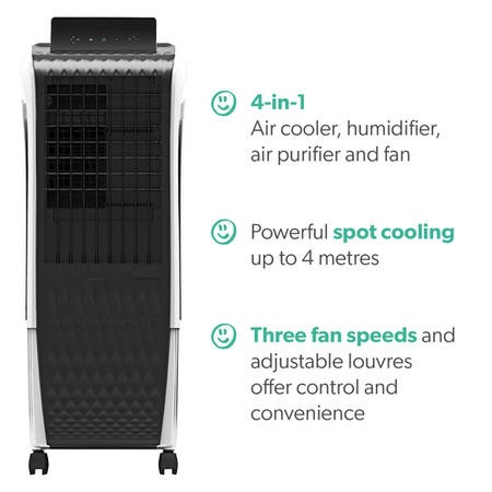 GRADE A1 - electriQ 15L Portable Evaporative Air Cooler Air Purifier with anti-Bacterial Ioniser and Humidifier