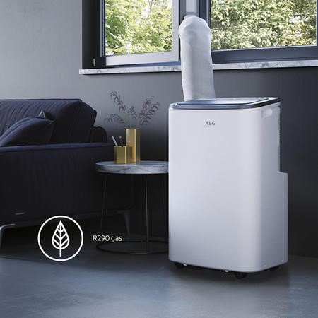 AEG 9000 BTU Portable Air Conditioner with heat pump for rooms up to 21 sqm