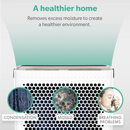 GRADE A1 - 10 litre Digital Dehumidifier with Humidistat for up to 3 bed house