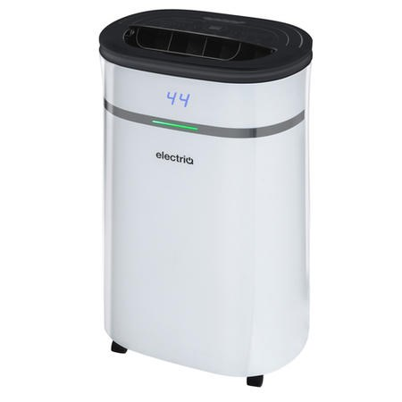 electriQ 12 litre Low Energy Dehumidifier for up to 3 bed house with Digital Humidistat and UV Plasma Air Purifier