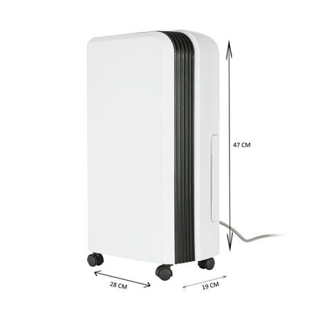 GRADE A1 - electiQ 12L Slim premium Anti-bacterial Wall-mountable Dehumidifier -up to 3 Bed House