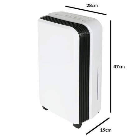 electriQ 12L Slim premium Anti-bacterial Wall-mountable Dehumidifier-up to 3 Bed House