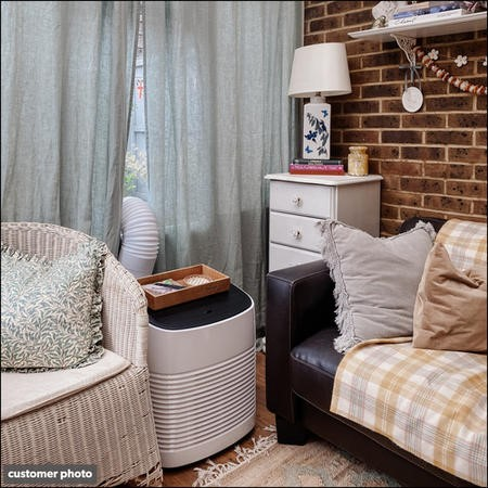 GRADE A1 - electriQ Compact 9000 BTU Small and Powerful Portable Air Conditioner for Rooms up to 21 sqm