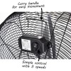 24 Inch High velocity portable fan - Black