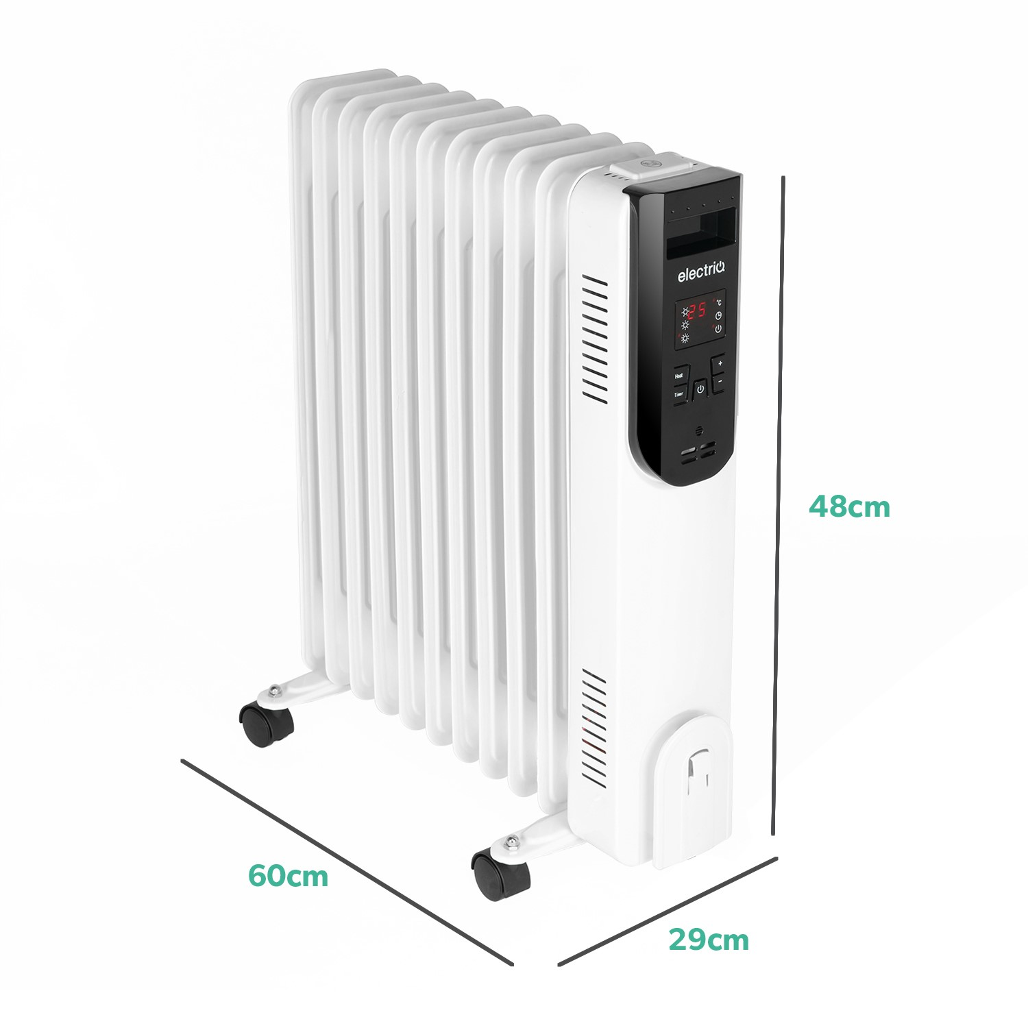 24 Hr Timer Programmable Thermostat Digital Radiator Heater With Remote