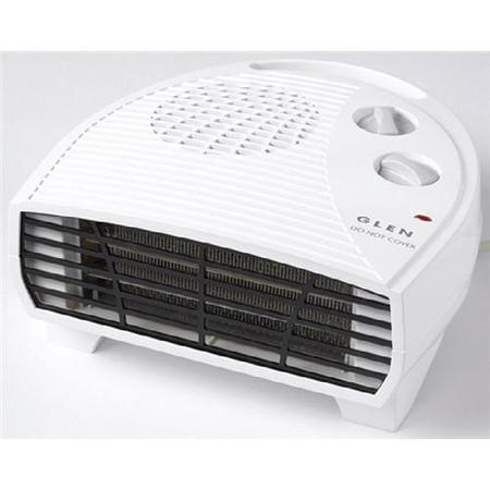 Glen GF20TSN 2kw Flat Fan Heater 2 Heat Settings And Thermostat