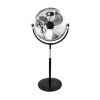 electriQ 16 Inch High velocity Pedestal Fan with adjustable Stand - Black and Chrome