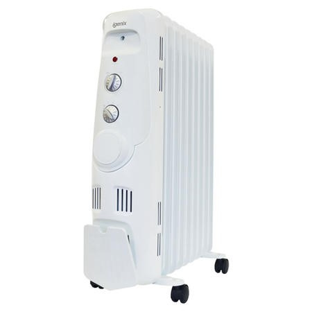 Igenix IG2600 2kW  Portable Oil Filled Radiator Electric Heater with 3 Heat Settings Adjustable Thermostat Overheat Protection