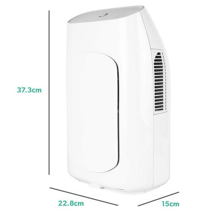 electriQ MD2000 Dehumidifier with 2 litres tank great for small rooms and caravans