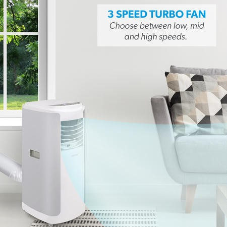 12000 BTU SMART WIFI App Portable Air Conditioner with heatpump for rooms up to 30 sqm - Alexa Enabled