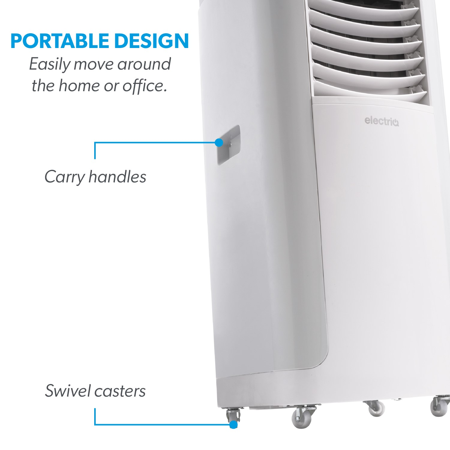 electriQ 12000 BTU SMART WIFI App-controllable Portable Air Conditioner  with heatpump for rooms up to 30 sqm - Alexa Enabled