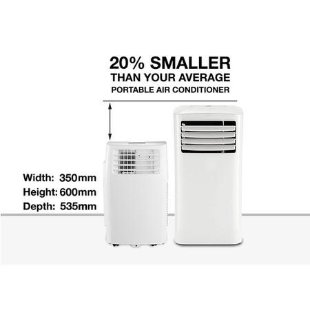 15000 BTU 4.4 kW Portable Air Conditioner with Heat Pump for Rooms up to 40 sqm