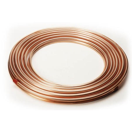 GRADE A1 - 25M Copper 2 Pipes Roll for split air conditioners diameter 1/4 inch and 1/2 inch 6.00 mm  / 12 mm