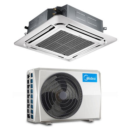 24000 BTU 7kW A/A+ Super Slim Ceiling Cassette Air Conditioning system with heat pump and 5 years warranty
