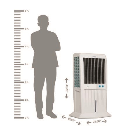 GRADE A1 - Storm70c 70L Symphony Evaporative Air Cooler  up to 80 sqm with i-pure Air Purifier technology