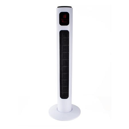 "electriQ 38"" Tower Fan with Temperature Display Remote Control 3 Speed Settings Timer & Oscillation Functions"
