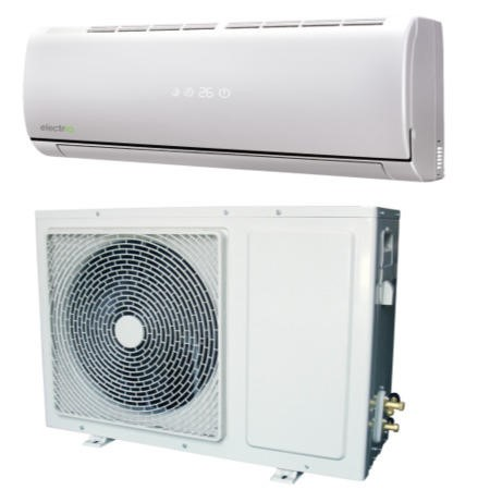 electriQ 24000 BTU Hitachi Powered Wall Mounted Split Air Conditioner with Heat Pump 5 meters pipe kit and 5