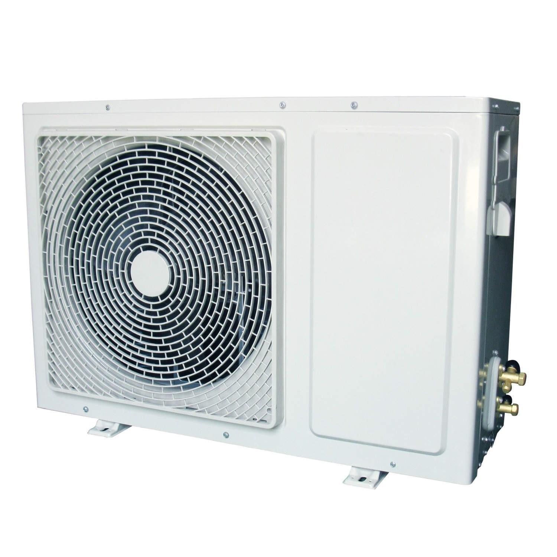 24000 BTU Black Hitachi Powered Smart Wall Mounted Split Air Conditioner  with a Heat Pump