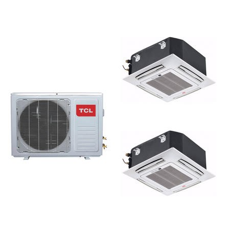 Twin Ceiling Cassette system 24000 BTU 6kW A++/A+ SmartApp Wifi  with two 12000 BTU indoor units to a single outdoor unit - 5 years warranty