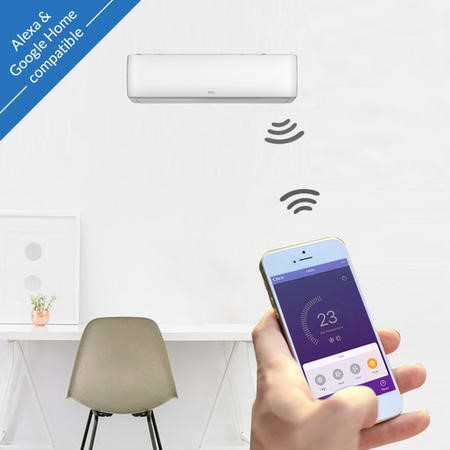 TCL 9000 BTU WIFI Smart A++  easy-fit DC Inverter Wall Split Air Conditioner with 5 meters pipe kit