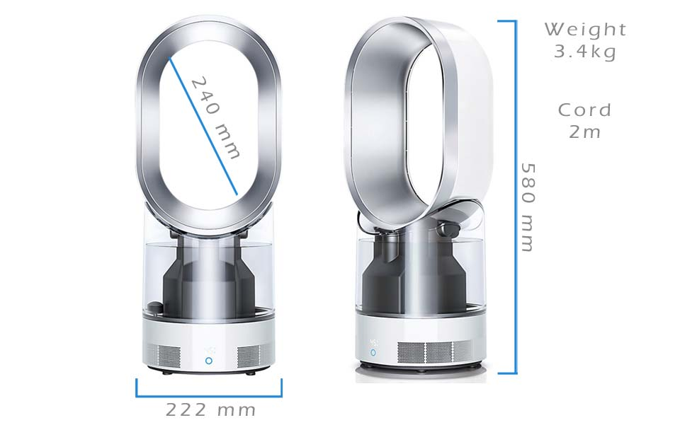 Buy Dyson Am10 Humidifier And Fan White Silver With 2